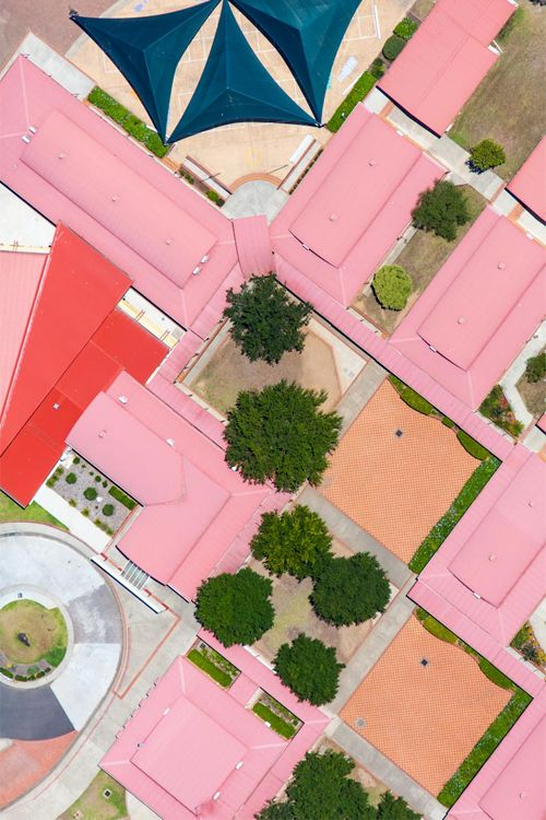 { pink roof abstract | mark merton }