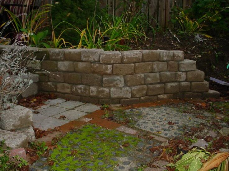 Home made hypertufa bricks. I like how rustic they look