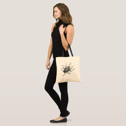 Scary Spider Tote Shopping Bag  $13.35  by KevillArt  - cyo customize personalize unique diy idea