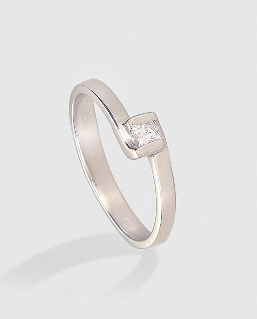 b9c38e361420 Anillo solitario diamante en oro blanco El Corte Inglés