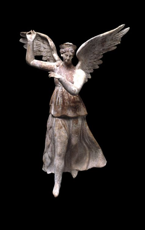 Terracotta figure of a winged Nike 200-150 BC Hellenistic (Source: The British Museum)