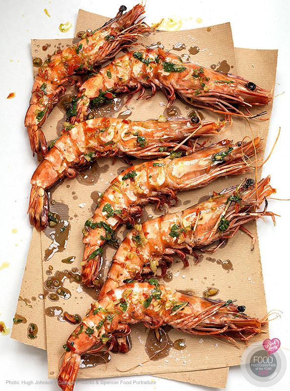 BBQ Chilli Prawns. By Hugh Johnson.