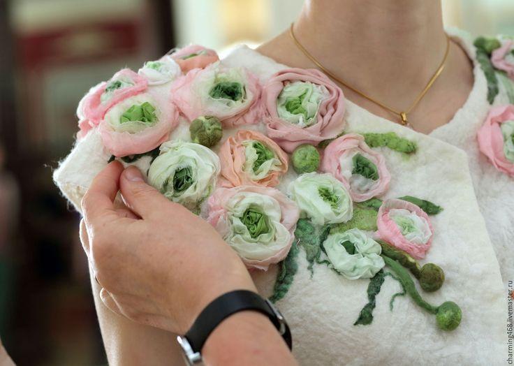 Купить Свадебный пиджак - белый, цветочный, свадебный жакет, свадьба, белое платье, свадебное платье