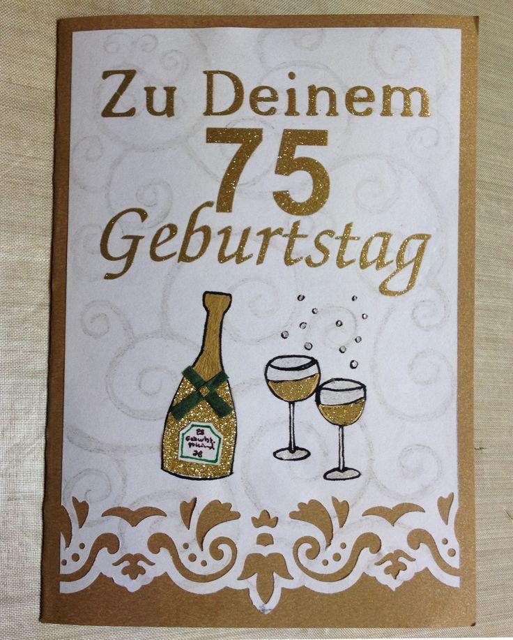 Geburtstagskarte zum 75 3d karten basteln pinterest for Pinterest geburtstagskarte