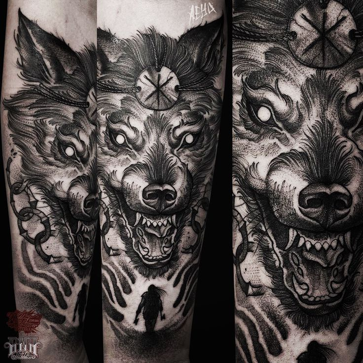The 25+ best ideas about Fenrir Tattoo on Pinterest ...