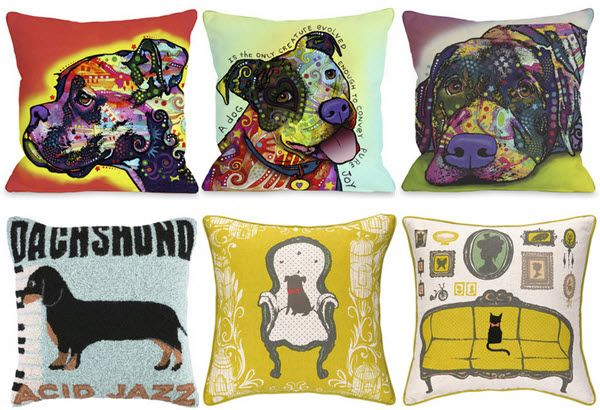 Adorable Throw Pillows for Dog and Cat Lovers
