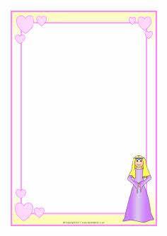 Princess-themed A4 page borders (SB4550) - SparkleBox
