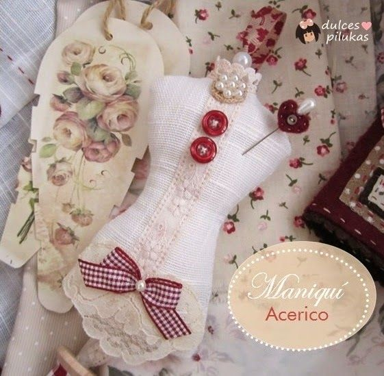 Sweet pilukas: Pincushion mannequin for sewing basket.