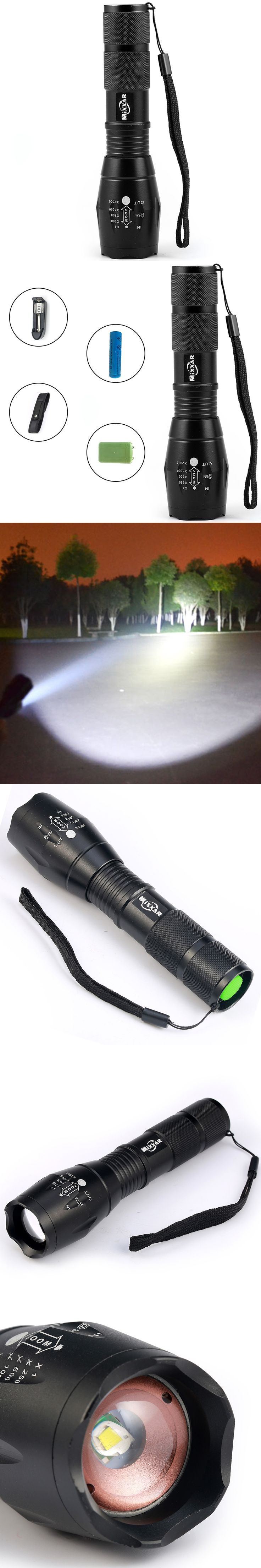 ZK40 Lanterna CREE XM-L2 8000LM Tactical Flashlight Torch Zoom Linternas LED Flashlight for3xAAA or1x 18650 Rechargeable Battery
