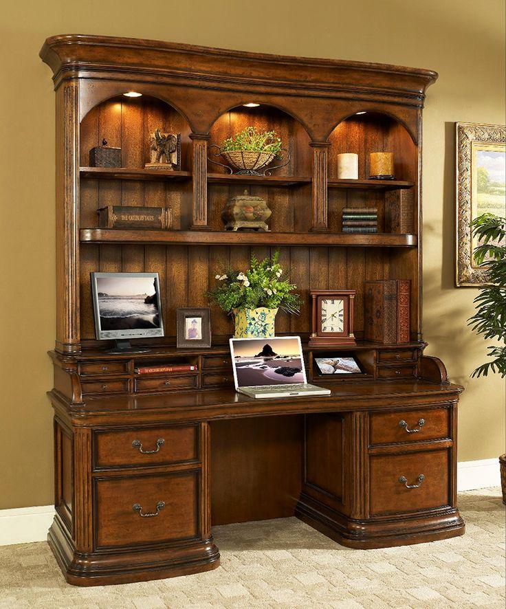 Aspenhome Warm Cherry Executive Modular Home Office: Make Business A Pleasure