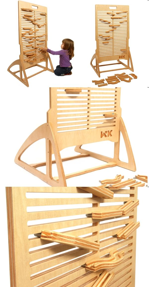 PLYWOOD: Marble Run My children would love if dad could make this one.