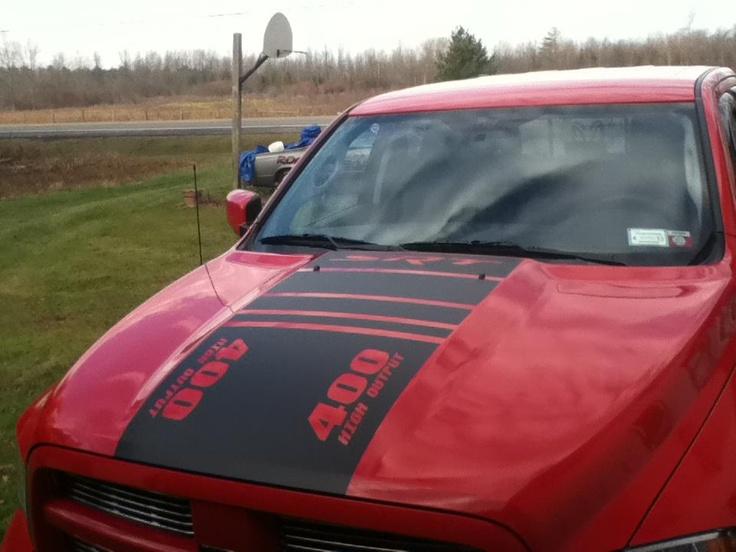 Dodge custom hood stripe by rogue decals visit us at www fb com