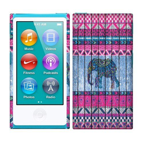 Amazon.com: Fincibo (TM) Apple iPod Nano 7 (7th Generation) Back Cover Hard Plastic Protector Case - Emerald Galaxy Vines Motifs: Cell Phones & Accessories