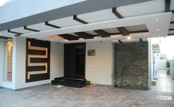 Pin On Car Porch Design Modern Ceiling