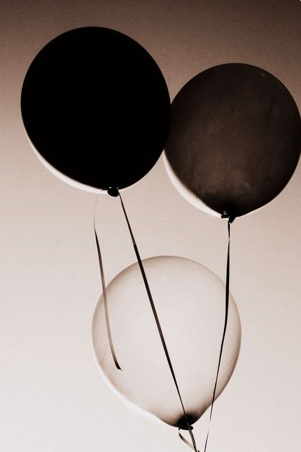 Black and White Balloons. Photography.