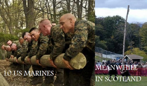 Marines vs Scotsmen #scotland #funny