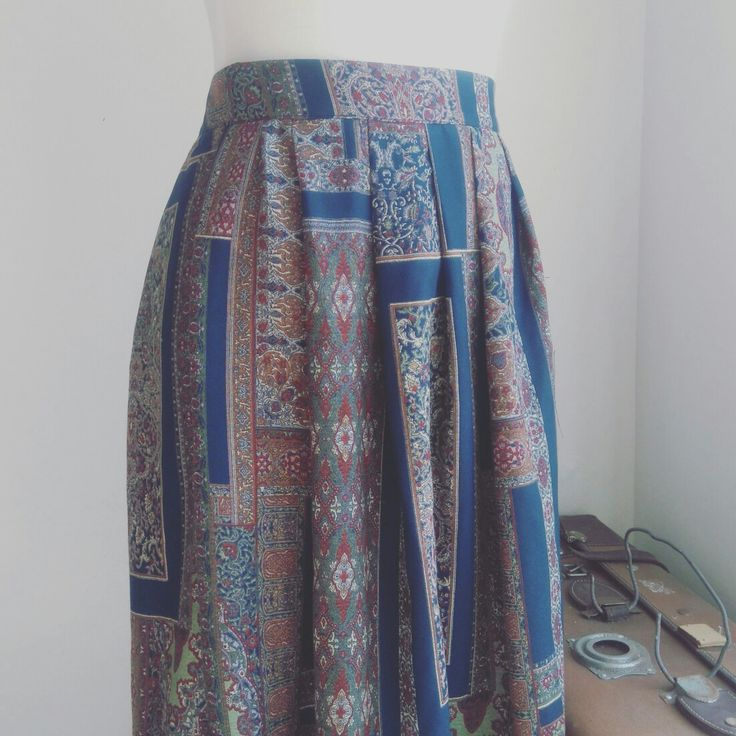 Print ladies pleated midi skirt Follow us on Fb and instagram  nouf clothing