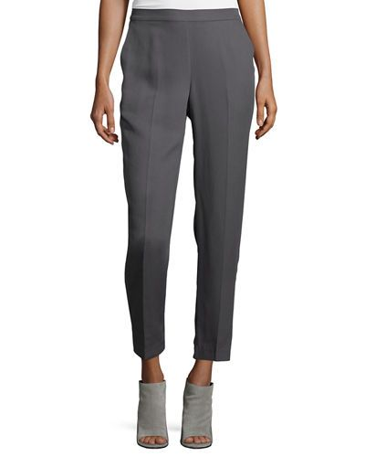 Eileen+Fisher+Tencel+Reg+Slim+Ankle+Pants+Plus+|+Clothing