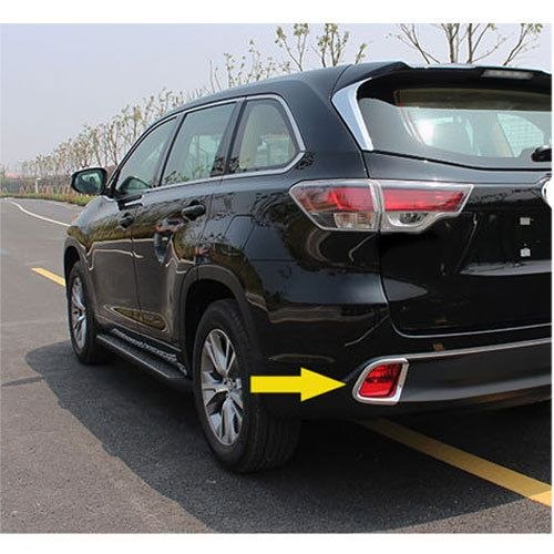 Cool Amazing Car Rear Fog Light Lamp Cover Trim ABS 2PCS For Toyota Kluger Highlander 2014-17 2017 2018 Check more at http://24auto.tk/toyota/amazing-car-rear-fog-light-lamp-cover-trim-abs-2pcs-for-toyota-kluger-highlander-2014-17-2017-2018/