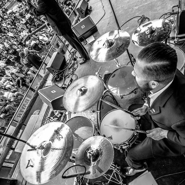 Drummer Fel Torres of The Cold Hard Cash Show -  2016 Sturgis - Photo by Repor Photography