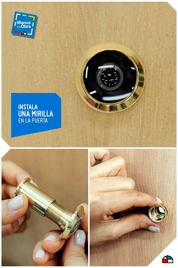 Instala una mirilla en tu puerta de entrada sodimac for Decoracion hogar sodimac