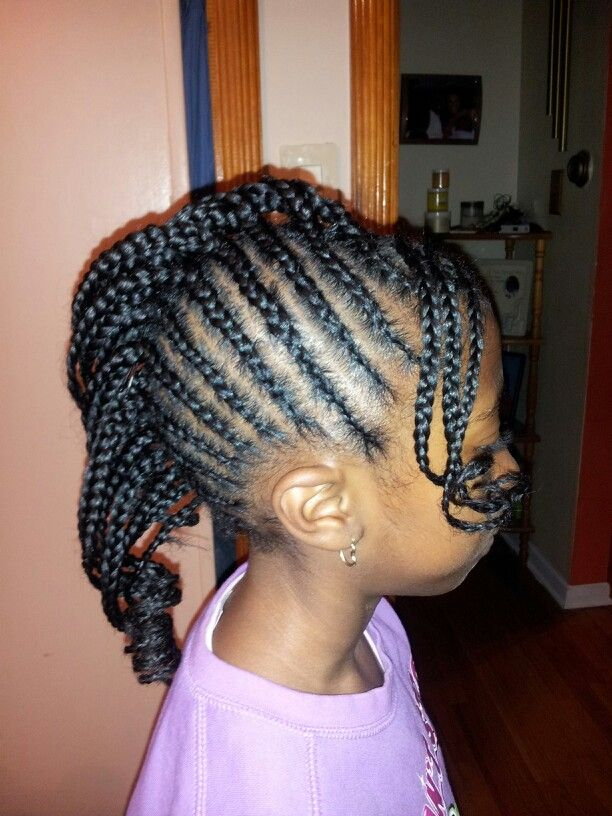 Monica Brown Hair Style Braided Mohawk Side Z Hairstyles Pinterest