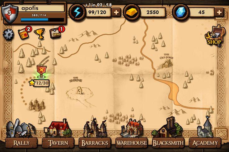 game map ui