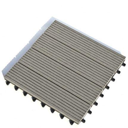 Dalle Terrasse Composite clipsable - Gris - 30 x 30 cm