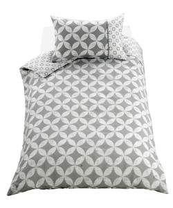 Geometric Grey Bedding Set - Single.