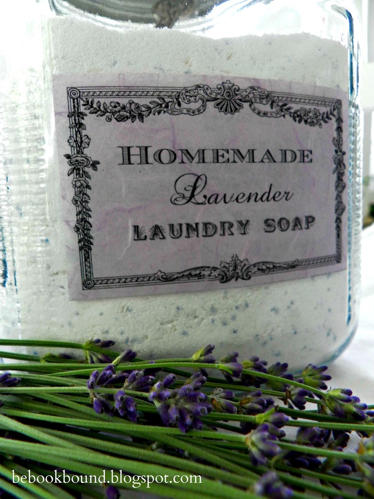 Homemade Lavender Laundry Soap. I really like this label. So pretty!