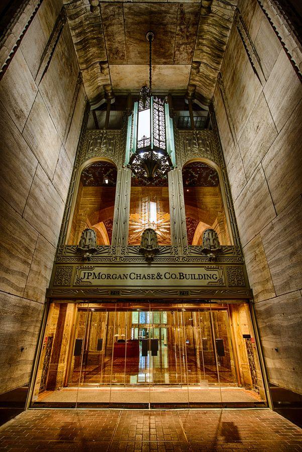 Beautiful architectural treasure in Houston. JP Morgan Chase Building, Houston, Texas