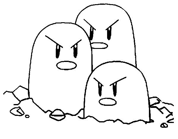 Dugtrio Coloring Pages Pokemon Coloring Skull Coloring Pages