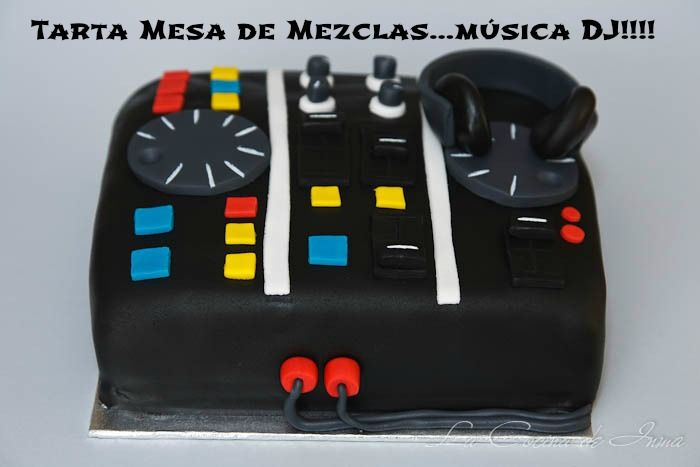 Hey Mr. DJ 2 / Tarta Fondant Mesa de Mezclas / Fondant Cake Mixer table