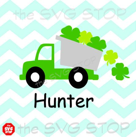 St Patricks Day Shamrock truck design SVG and studio files for Cricut, Silhouette, Vinyl Cutters and Screen Printing by SVGstop on Etsy https://www.etsy.com/listing/222381085/st-patricks-day-shamrock-truck-design
