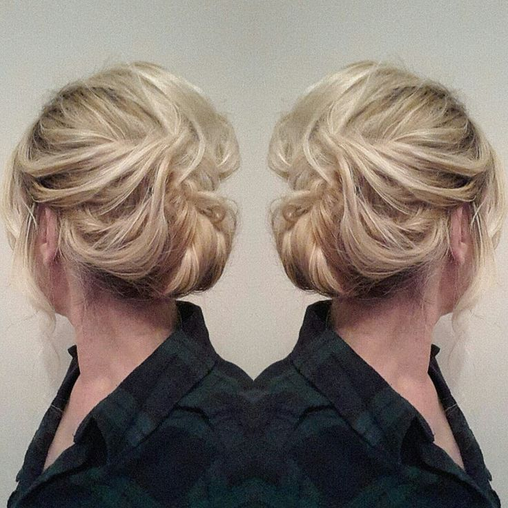 Loose romantic updo... #updos #weddingupdo