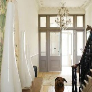 Love the grey French doors