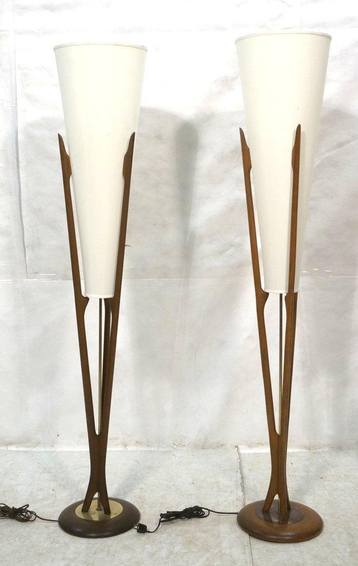 Adrian Pearsall MidCentury Floor Lamps | Chairish