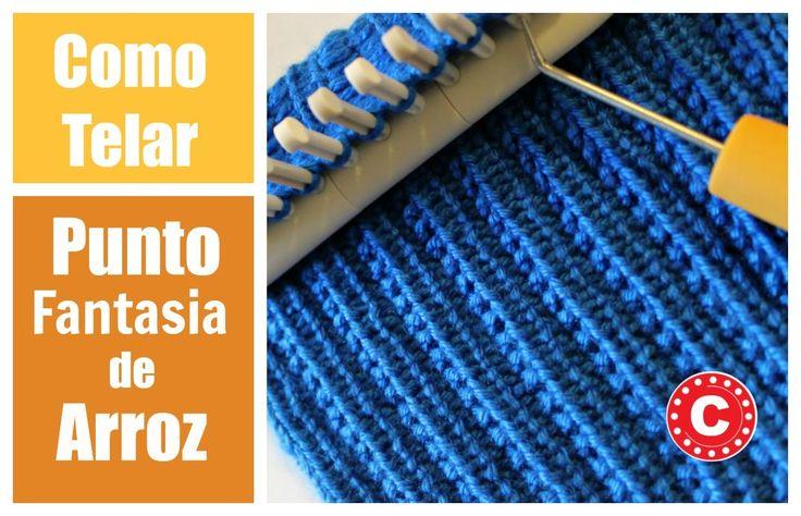 Como Telar El Punto Fantasia de Arroz   Farrow Rib Stitch in Spanish