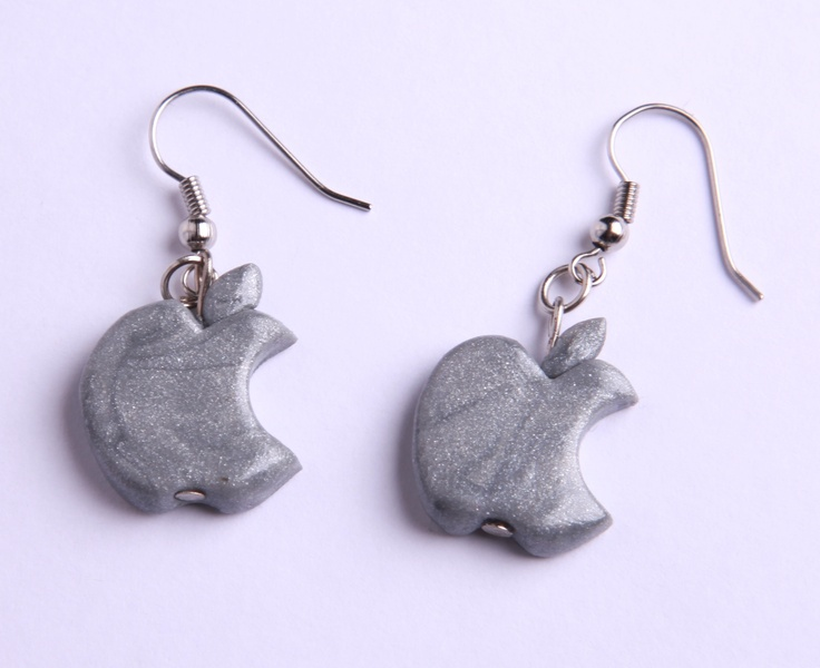 "Polymer Clay ""iEarring"" earrings by milk+biscuit, $11"