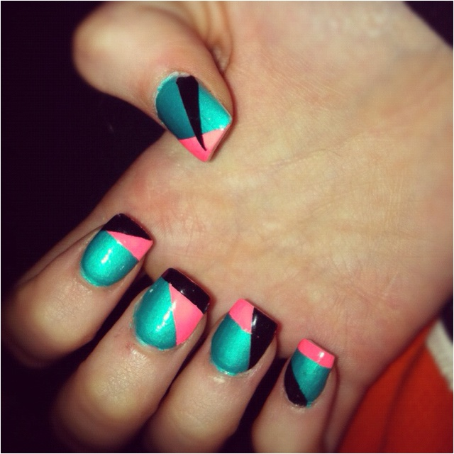 Blue, pink, and blackColors Combos, Nails Art, Nailart, Cute Nails, Nails Design, Black Nails, Design Nails, Naildesigns, Pink Black