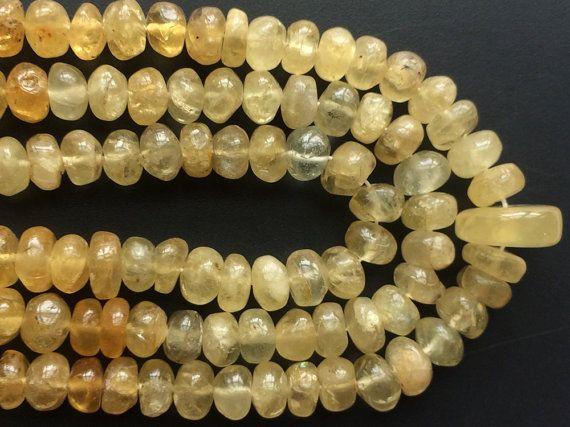 Yellow Aquamarine Beads Yellow Aqua Plain by gemsforjewels on Etsy