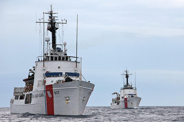 Vigilant & Diligence by U.S. Coast Guard. US Coast Guard Cutter 617 is the Vigilant. My brother was assigned to her at New Bedford, Mass. in 1977. The cutter has since been refurbished and is now located in Florida.