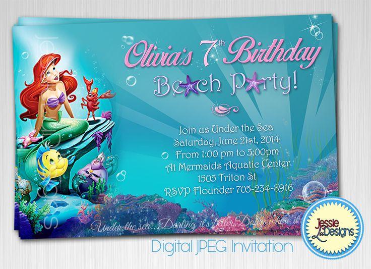 75 best Kids Birthday Party Invites images – Digital Birthday Party Invitations