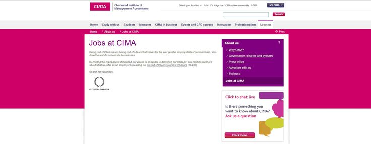 Chartered Institute of Management Accountants - a global Investor in People