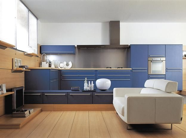 Modern Kitchen Style Blue Cabinets Design Ideas, Modern Kitchen Style Blue  Cabinets Design Gallery, Modern Kitchen Style Blue Cabinets Design  Inspiration, ...