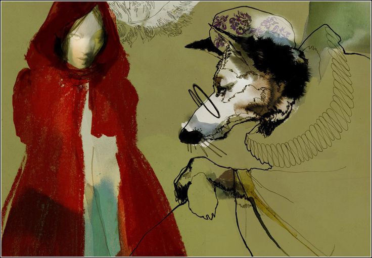 Вечерняя красная шапочка 29 Современный шведский художник Даниэл Эгнеус (Daniel Egnéus). В 2005-м он был признан Ассоциацией иллюстраторов Великобритании лучшим иллюстратором.