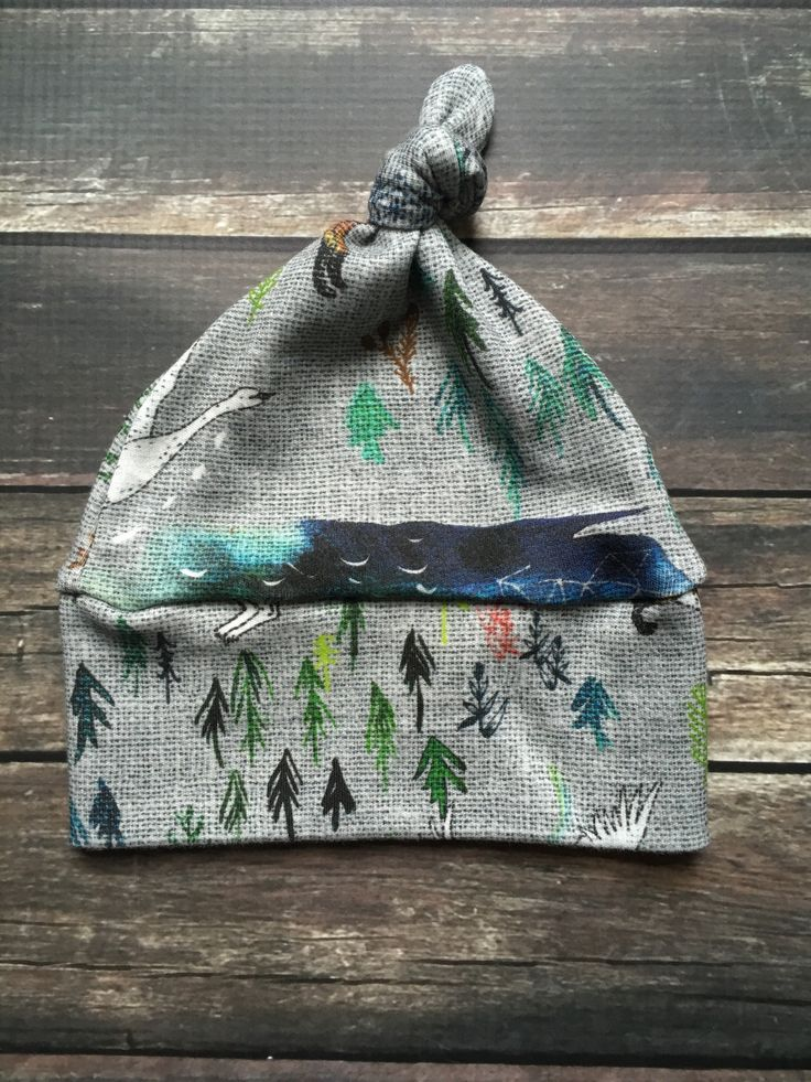 Call of The Northern Wild - Organic Baby Knot Hat