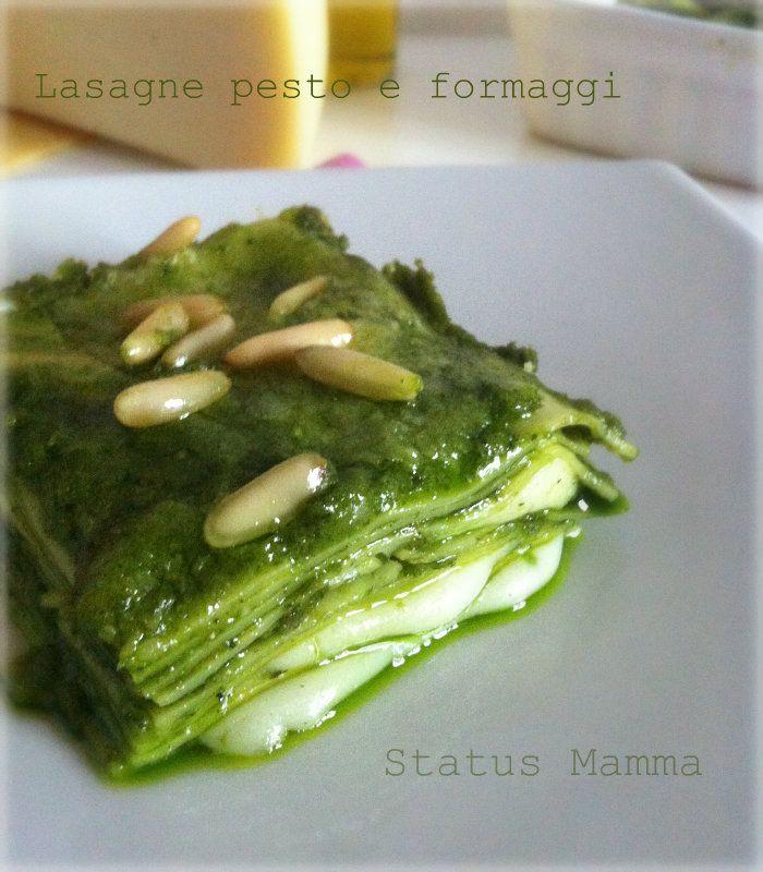 lasagne al pesto e formaggi ricetta cucinare foto blogGz Giallozafferano primi tutorial pinoli basilico pesto Statusmamma Blog