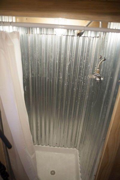 Homemade shower stall custom designed built midwest for Shower tub doors brass