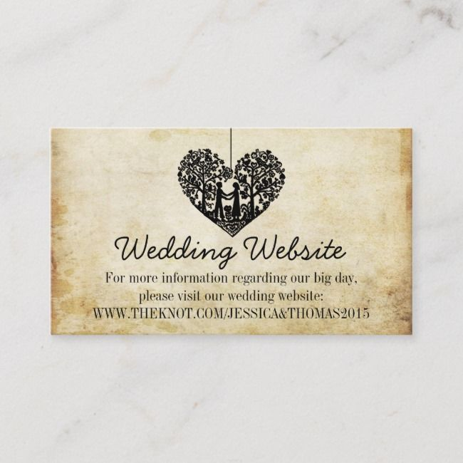Create Your Own Enclosure Card Zazzle Com Wedding Website Wedding Website Card Wedding Enclosure Cards